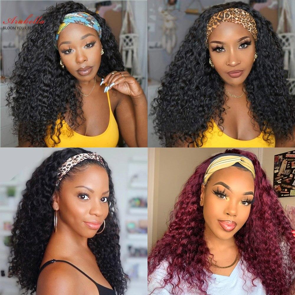 Headband Wig Deep Wave  Wigs  Easy to Install ARABELLA Hair Glueless Wig Curly Headband Wig  6