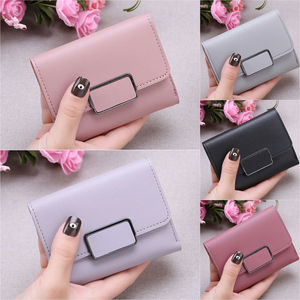Women's Wallet Lovely Candy Color Short Pu Leather Female Cute Small Purse Money Purse Card Holder Girls Lady Wallets for Women
