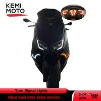 Para tmax luz de sinal para yamaha tmax 530 2012 2013 2014 2015 2016 freio led luz traseira frente turn signal indicadores lâmpada
