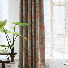 Curtain Fabric Modern Curtains Simple Cotton Printing Curtain Window Screen Fabric  Curtains for For Living Room Bedroom modern simple cotton linen stereo embroidery curtain dolly curtain screen american country curtains for living room and bedroom