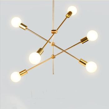 Современный подвесной светильник, светодиодный светильник для столовой, спальни, фойе, круглый стеклянный шар, Черное золото, скандинавски...