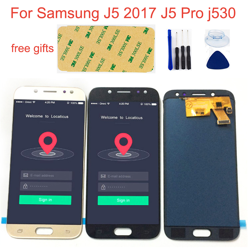 Adjustable LCD For Samsung J5 2017 LCD Touch J5 Pro J530 SM- J530F J530FN J530M J530Y DS LCD Display + Touch Screen Assembly