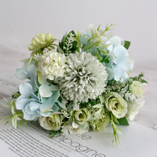 Nordic Artificial Flower Rose Holding Wedding Bouquet Silk Flower for Home Party Table Decoration Fall Decorations Fake Flower nordic black matte glass vases hydroponics plant flower for artificial flower bouquet with vase wedding table home decoration