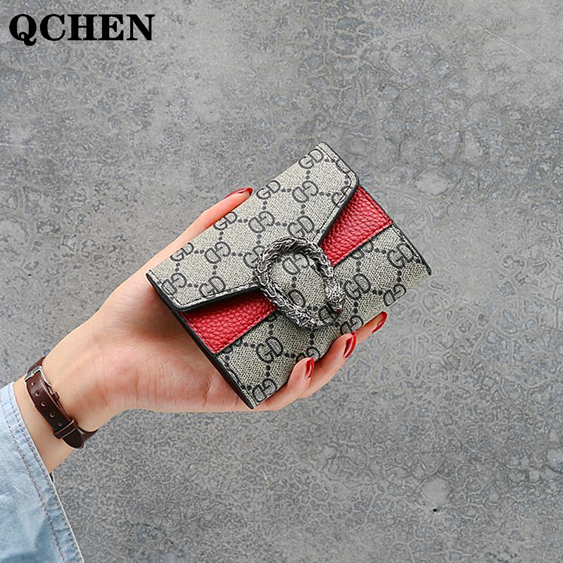 Women Wallet Long Luxury Brand Leather Coin Purses Tri-fold Soft Skin Buckle Clutch Female Money Bag Hand Credit Card Holder 694