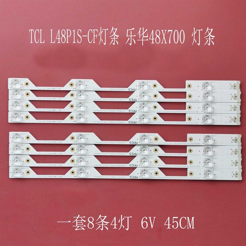 8pcs 4lamps For TCL L48P1S-CF L48P1-CUD B48A858U LED Backlight Strip 4C-LB4804-ZM1 4C-LB4804-ZM01J GIC48LB14-3030F2.1e