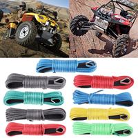 1/4' x 50' Synthetic Winch Rope Line Cable 7700 LB Capacity ATV UTV