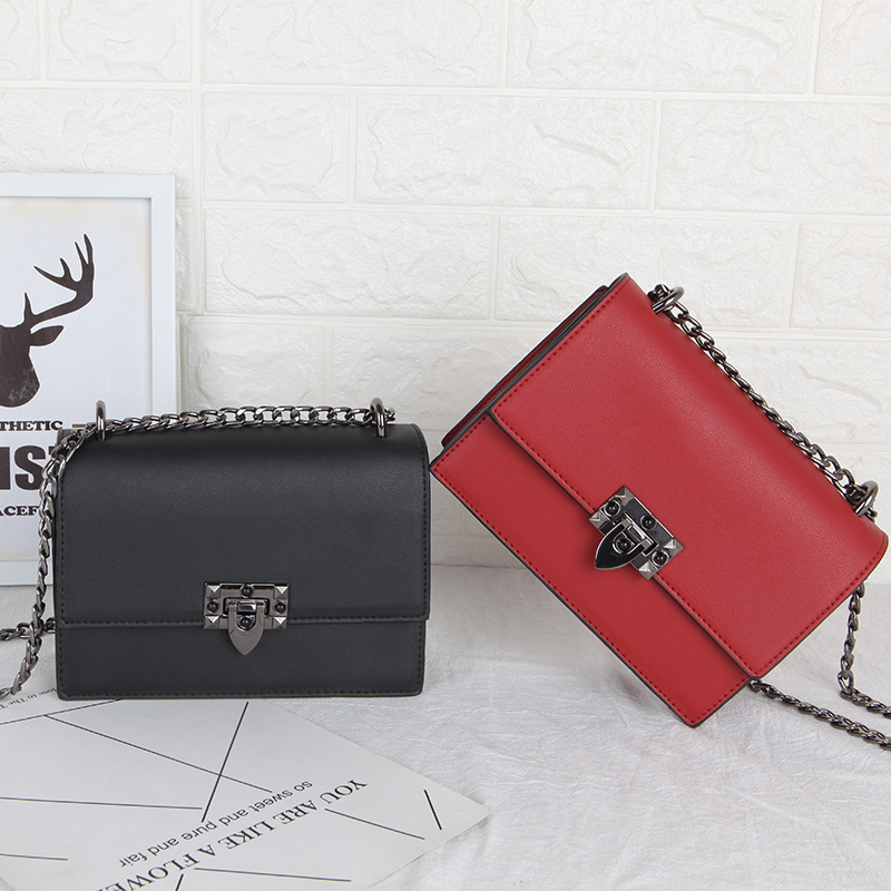 Ladies Fashion Small Bag 2019 Mini Pu Leather Shoulder And Red