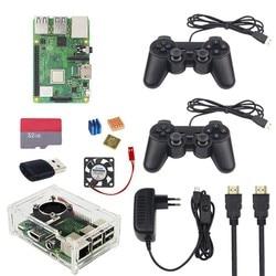 Raspberry Pi 3 Modell B + Gaming kit + Wireless Game Controller + Fall + Power + 32G SD karte + HDMI Kabel + Kühlkörper für Retropie 3B Plus