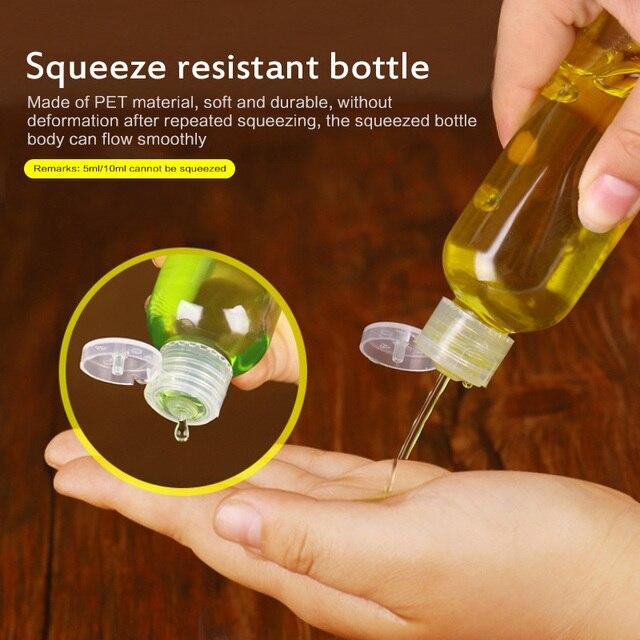 1Pc 5/10/30/50/80/120/200/250 Ml plastique Transparent bouteille papillon bouchon outil de maquillage sous-embouteillage à clapet bouteille offre spéciale