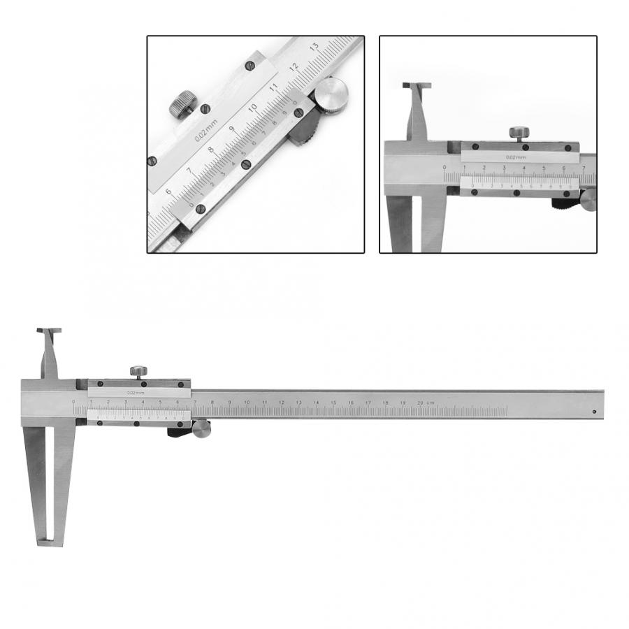Fafeicy Carbon Steel Double Claw Inner Groove Vernier Calipers 9-200mm for Mechanical Processing