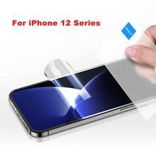 ROCK For iPhone 12Pro Max/12/12 미니/12Pro 하이드로 겔 스크린 프로텍터 풀 커버리지 0.14mm 초박형 하이드로 겔 필름 안티 스크래치
