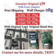 Premium Quality Genuine Original A1385 A1400 28g EU US Plug USB Power Adapter Wall Charger For Foxconn Phone With logo New Box цена 2017