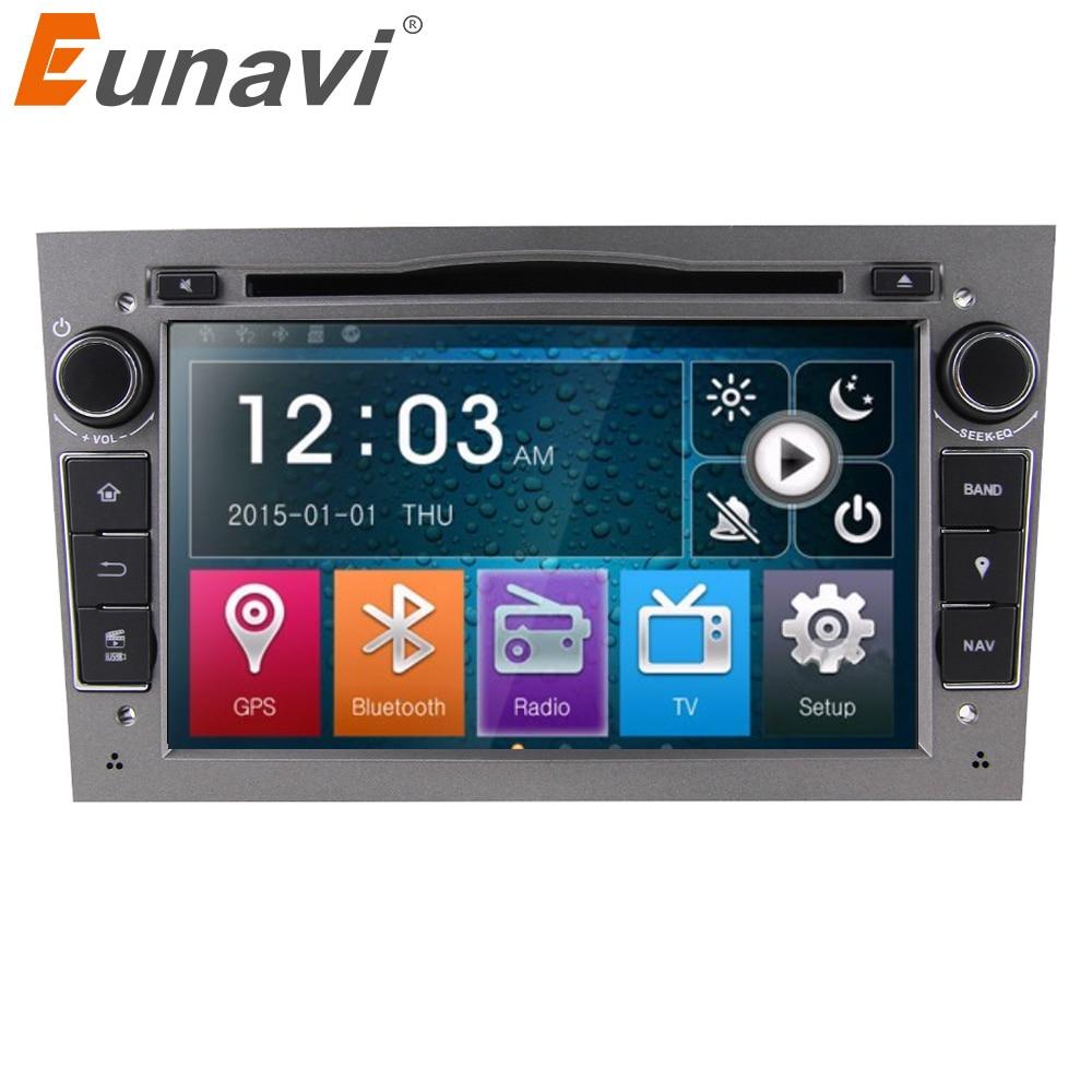 Eunavi 2 Din samochodowy odtwarzacz DVD radio pc w desce rozdzielczej radio samochodowe stereo dla Vauxhall Opel Astra H G J Vectra Antara Zafira Corsa GPS lustro link