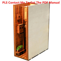 3D DIY Street Rear Lane Bookcase Wooden Assembled Model Bookshelf Home Table Decor   Type B S/ M
