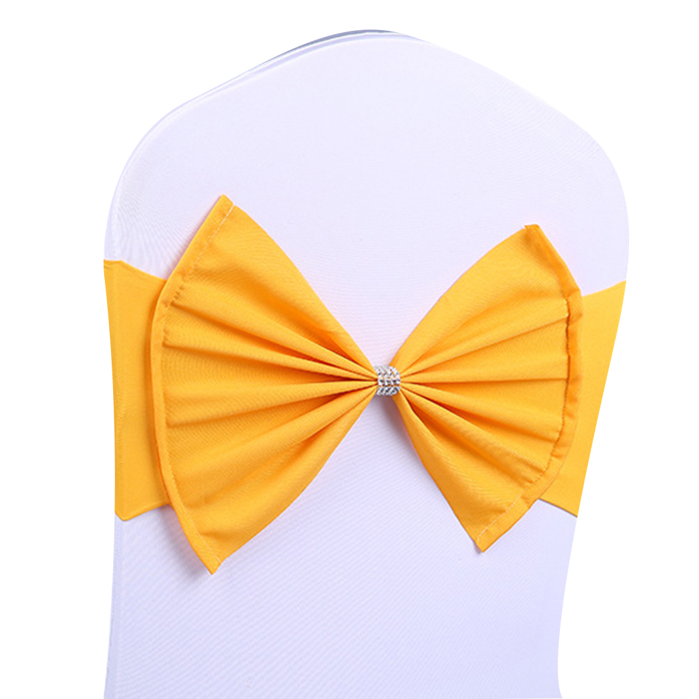 2019 1 pcs Elastic Chair Sashes Bowknot Chair Bands Stretch Bow Chair Cover for Wedding Decoration