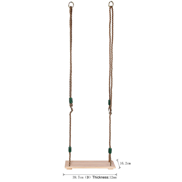 Wooden Chair Garden Swings with Rope 3