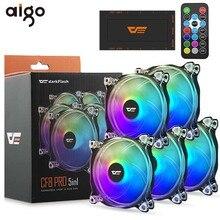 Aigo вентилятор RGB 120 мм компьютерный ПК Корпус Вентилятор прозрачная рамка тихий+ дистанционный Вентилятор охлаждения процессора компьютера регулировка скорости AURA SYNC RGB Корпус Вентилятор