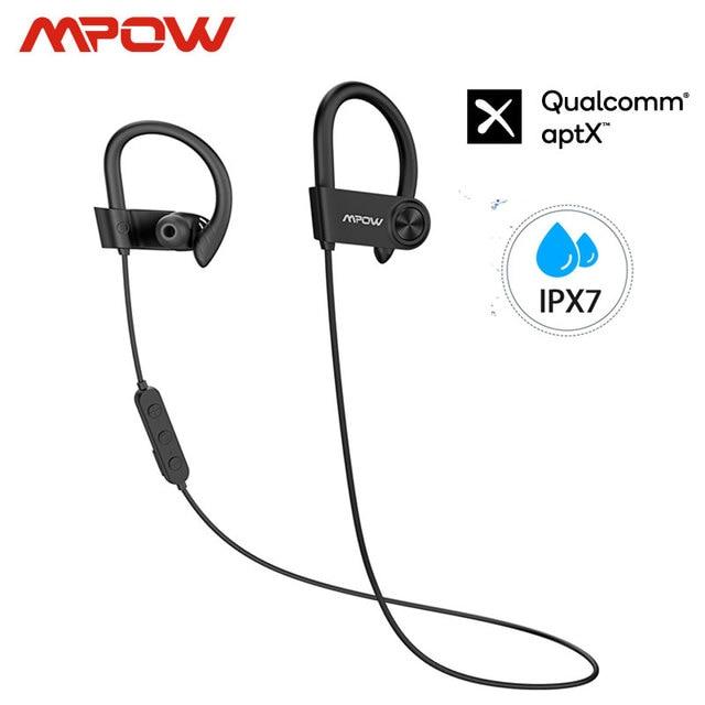 Mpow D9 Bluetooth 5.0 Cuffia Senza Fili 16 18H tempo di Gioco ipx7 Impermeabile di Sport del Trasduttore Auricolare di Sostegno APTX Per Android iPhone samsung