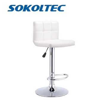 Sokoltec bar swivel chair counter stool height adjustable kitchen bar stool counter high chairs contemporary PU leather wahson tufted round back swivel accent chair contemporary adjustable leather chrome vanity chair lounge pub bar bedroom white