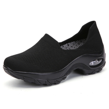 Women Toning Shoes Slip on Breathable Woman Swing Weige Shoes Jumping Black White Ladies Slimming Platform Shoes Big Size