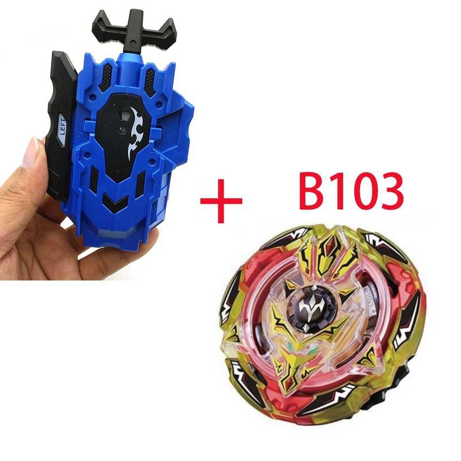 Волчок Beyblade BURST B-130 B-117 с пусковым устройством Bayblade Bay blade металл пластик Fusion 4D Подарочные игрушки для детей - Цвет: B103