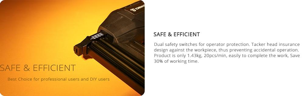 Safety of DEKO DKET02 Electric Tacker