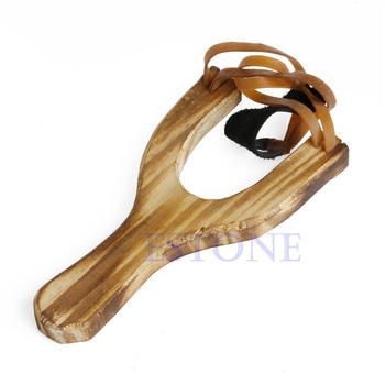 Gorącym stylu Wood proca drewniane tradycyjne zabawki drewniane Sling Shot tanie i dobre opinie OOTDTY CN (pochodzenie) Hot Style Wood Slingshot Wooden Traditional Toy Wooden Sling Shot do strzelania Łuk i strzały zestaw