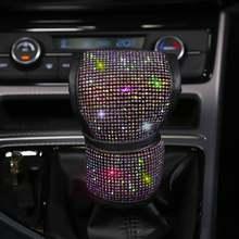 Шикарная крышка переключения передач автомобиля блестящая прозрачная