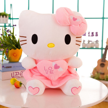 30cm 40cm cute Hello Kitty plush toy plush doll stuffed animals toys  love cushion kids baby children party birthday gift 40cm cute otter plush toys artificial river otter doll baby stuffed plush doll animals doll wholesale drop shipping new style