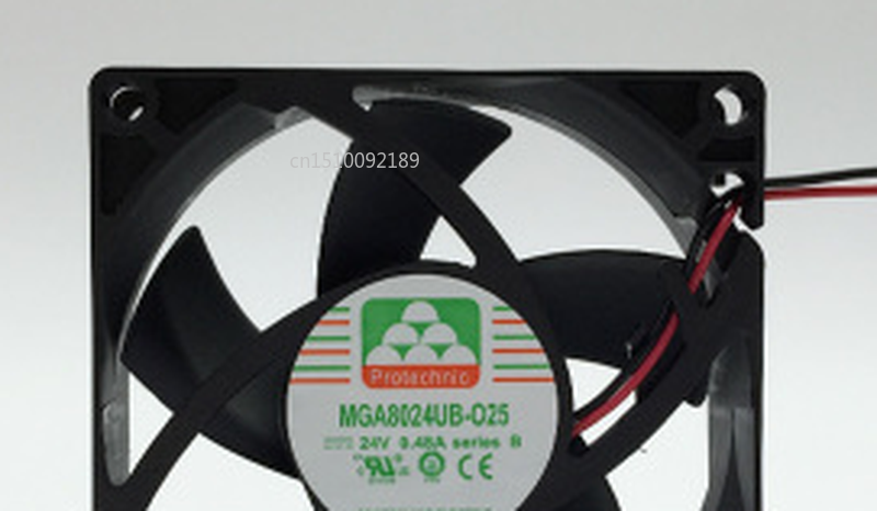 Free Shipping MGA8024UB-O25 DC 24V 0.48A 2-wire 80x80x25mm Server Cooler Fan