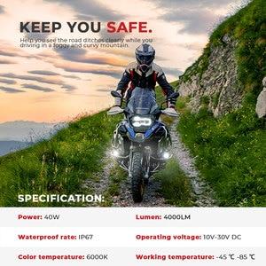 Image 2 - Motorrad nebel lichter Für BMW R1200GS ADV F800GS F700GS F650GS K1600 LED Hilfs Nebel Licht Assemblie Fahren Lampe 40W
