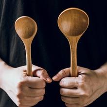 Wooden Spoon Tableware Long-Handle Dinner Soup Porridge Rice Cooking-Mixing Kitchen Large