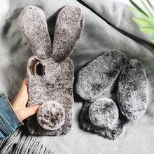 Rabbit Ears fluffy Diomand phone Case For OPPO