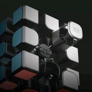 Image 3 - Xiao mi الذكية بلوتوث المكعب السحري بوابة الربط 3x3x3 mi مربع المغناطيسي أُحجية مكعبات العلوم تعليم التعليم لعبة هدية