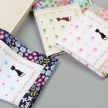 3pcs Women Cotton Print Hankerchiefs/ Hanky/ Kerchiefs/ Pocket Square 40 x 40cm
