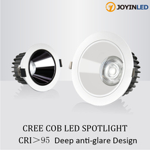 Commercial Lighting COB Deep Anti-glare Spotlight High CRI Cree Chip Ceiling Lamp Engineering Lighting Downlight for Hotel 3000K cheap JOYINLED ROHS CN(Origin) Daily Lighting Frosted 1-3square meters KİTCHEN Dining Room Bed Room ENGRAVED Aluminum 90-260V