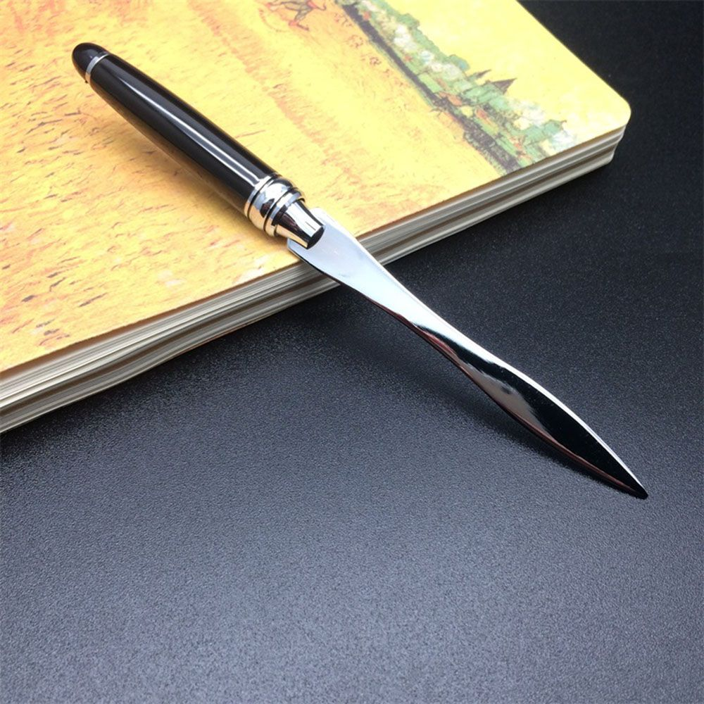 1PC Useful Black Office School Letter Opener Cut Paper Tool Letter Supplies Cutter Tool Business Cut Paper Utility Knife Supply 5