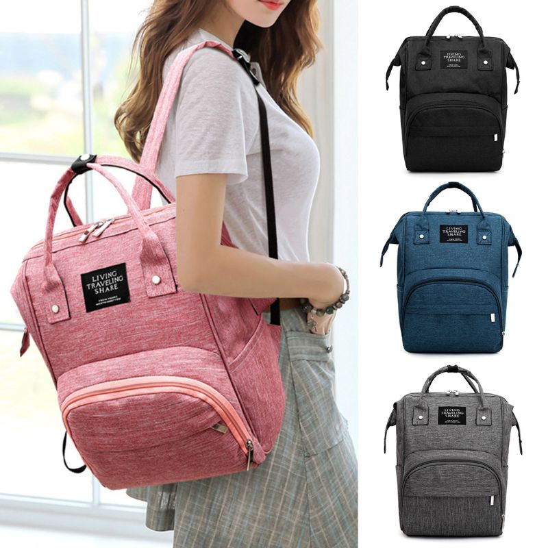 Simple Carry Clip Maternity Nappy Diaper Bag Large Capacity Baby Travel Backpack Handbag