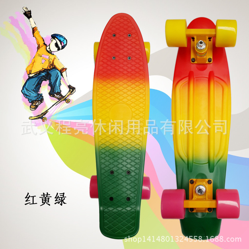 Banana Board Color Mixture Rainbow Fish Skateboard Scooter Adult Manufacturers A Generation Of Fat