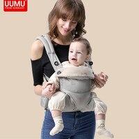 UUMU Cotton Ergonomic Baby Backpacks Carrier Sling Wrap Holder Hipseat Waist Belt Backpack Gear Ring Accessories Dropshipping