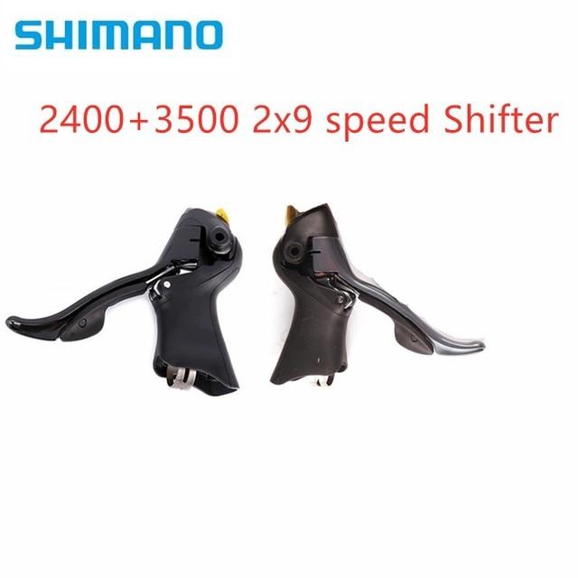 Shimano Claris 2400 SORA 3500 STi 2x9 hız 3400 2x9 hız yol sol sağ çift yol bisikleti kolları 2400 3500 Shifter
