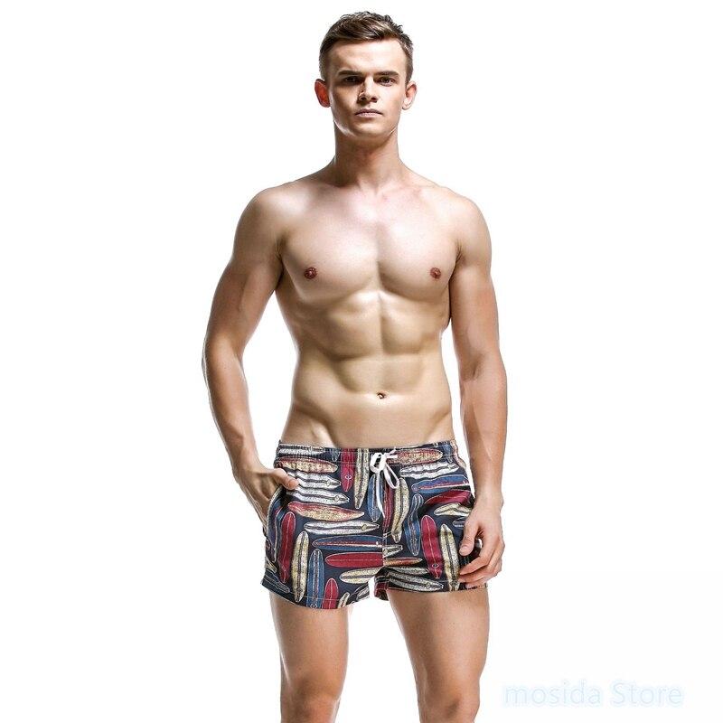 Calças de praia masculinas floral casal praia shorts retos