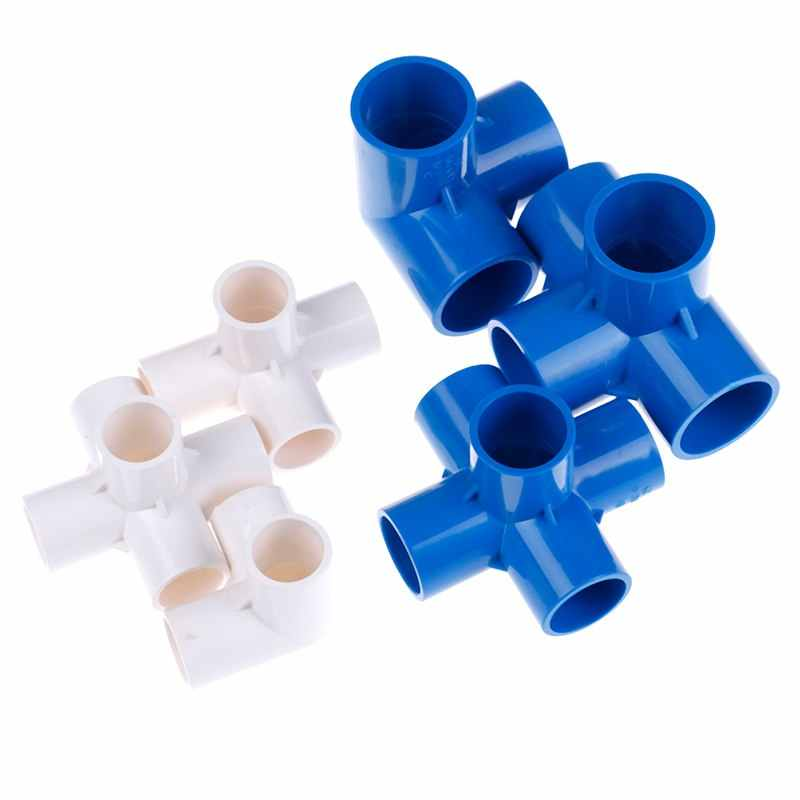 Mới Bên Trong Đường Kính. 20/25/32 Mm Ổ Cắm PVC TEE Stereo 4 Cách 5 Cách Cổng Kết Nối Ống Nước Chung Vòi Sửa Chữa 2 Màu Có Bán Sỉ
