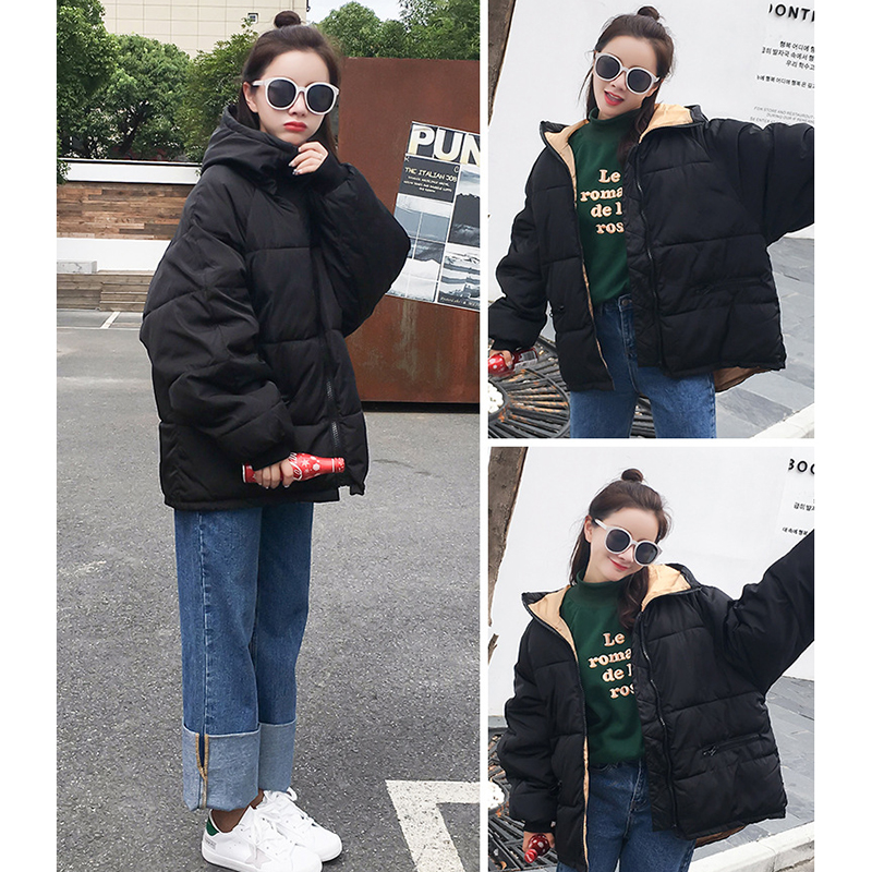 Down     Coat   Ladies New Fashion Autumn Winter Small   Down   Jacket Hooded Women Thick Warm   Coat   Large Size Red L