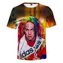 Rapper 6ix9ine New Album GOOBA Hip Hop Tekashi69 rainbow 3D T-Shirt Men/Women Short Sleeve T Shirt Clothes