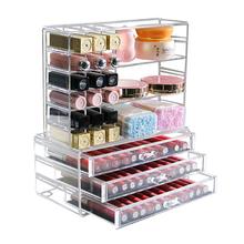 Etui na szminki akrylowy Organizer na pomadki etui na szminki Organizer Case Display kosmetyczny Organizer na kosmetyki pudełko typu Organizer szminki plastikowe szczotki tanie tanio