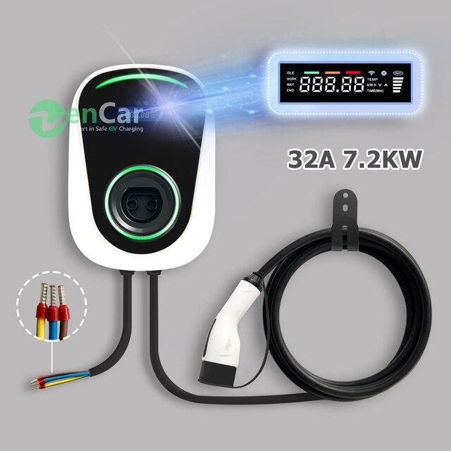 DUOSIDA elektrikli araç şarj istasyonu 32A 7kW Wallbox elektrikli araç şarj cihazı tip 2 kablo IEC 62196 2 için Mercedes