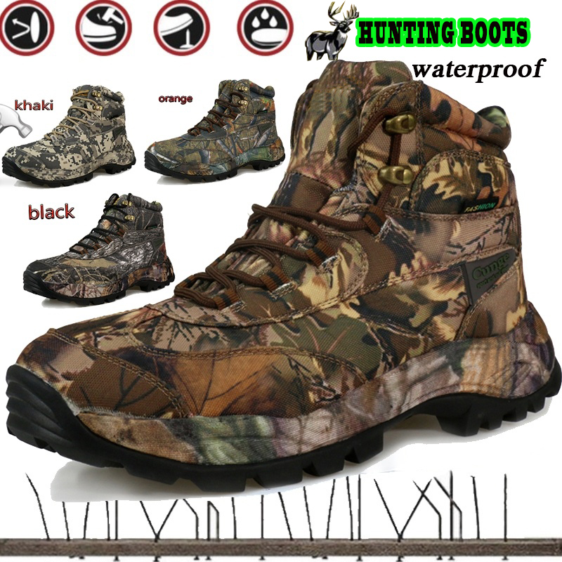 Cungel rubber hunting boots professional waterproof on sale hiking boots breathable travel shoes outdoor mountain climbing hunting boots