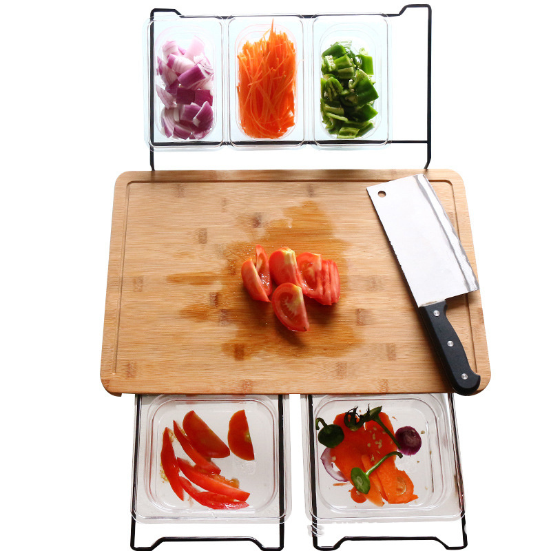 Kitchen with Storage Box Durable Multifunction Bamboo Fruit Practical Food Cutting Board Hardware Detachable Smooth Vegetable(China)