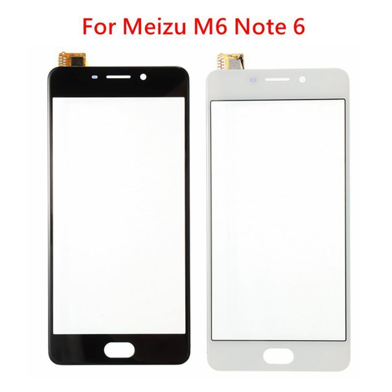2020 New Touch Screen Replacement For Meizu M6 Note 6 Touchscreen Digitizer Sensor LCD Display Front Glass Lens Black White